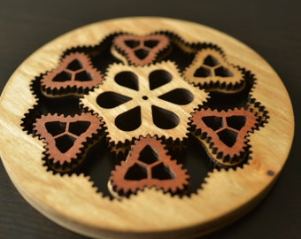 Functional wooden planetary gear, steampunk style - Full Plans - drastically reduced price!