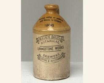 Antique Crockware Brewery Jug