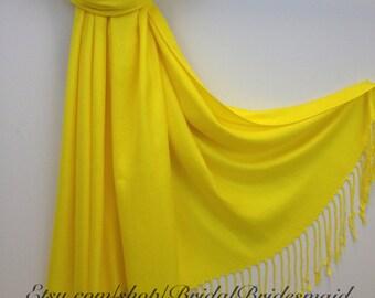 YELLOW SCARF - bright yellow shawl - bridal scarf - bridal shawl - bridesmaid gift - wedding gift - scarf - shawl - gift - keepsake