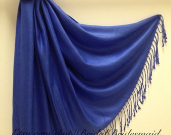 ROYAL BLUE SCARF - royal blue shawl - bridal scarf - bridal shawl - bridesmaid gift - wedding gift - scarf - shawl - gift -