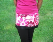 Sport Skirt - Coral Pink Stretch Spandex, ultra comfortable for Running, Dance, Workouts, Swim