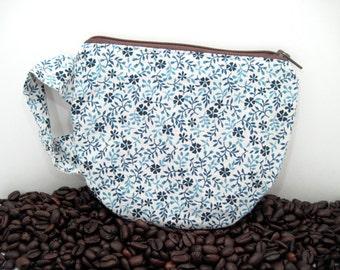 Coffee Cup Pouch - Tea Cup Pouch - Fun Zipper Pouch - Teacher Gift - Coffee Cup Purse