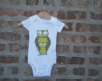 owl baby clothing, owl baby gift, owl design , owl mom and baby shower gift, baby neutral, cute baby gift, free shipping
