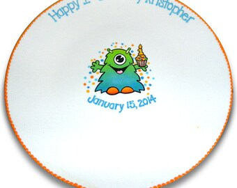 My Little Monster's 1st Birthday Signature Platter