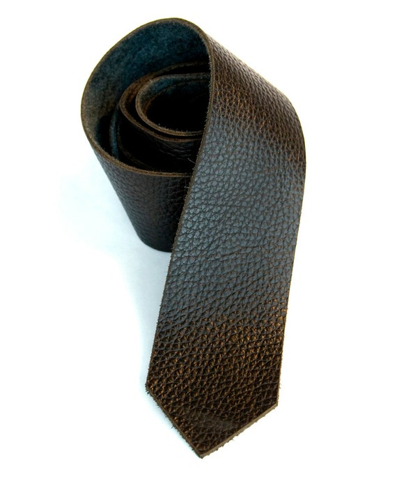 black leather necktie s leather tie laser cut