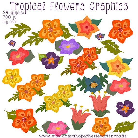 Tropical Flowers Png Tropical Flowers Graphics