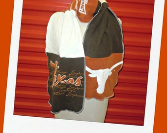 Football Scarf Recycled Tshirts Unisex Great gift Texas