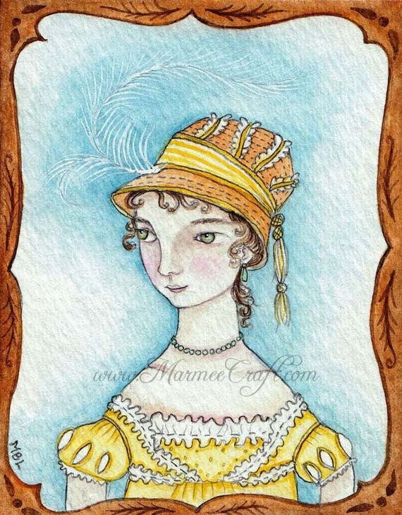 "Regency art print, ""Regency in Saffron"""