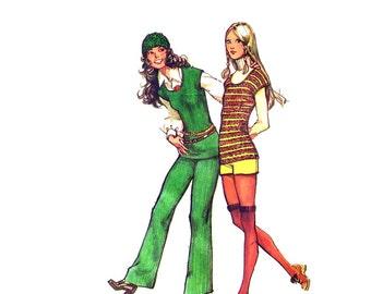 70s High Waisted Shorts pattern hop pants Vintage 36-27-38 mod shorts simplicity 9717