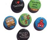 Teacher Magnet or Pin Set...