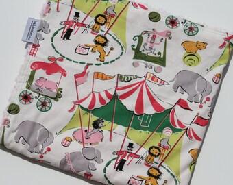 Circus Blanket - Pink Minky Blanket - Girl Baby Blanket - Personalized Minky Blanket - Personalized Baby Gift
