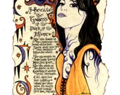 Hecate of the Dark Moon Greeting Card by Carole Anzolletti