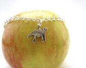 Dinosaur Charm Bracelet - One charm starter - sterling silver