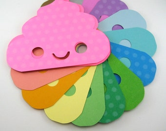 POOP Stationery set of 5 or 10 with or without envelopes