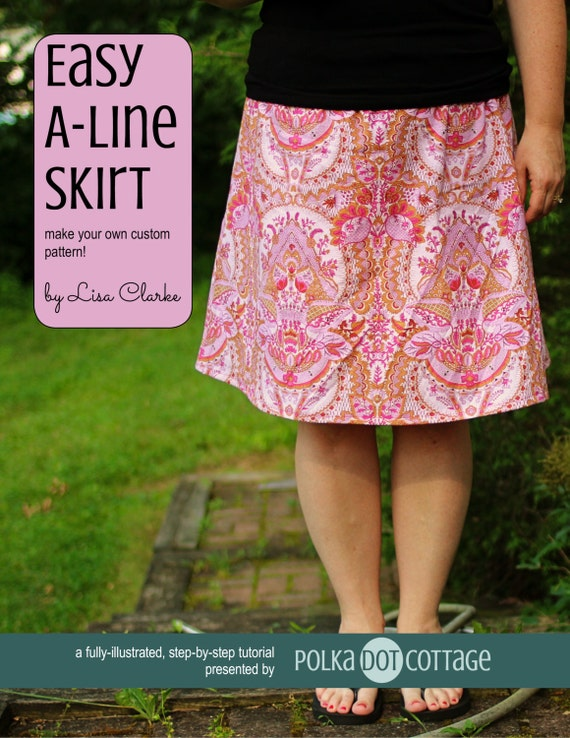 easy a line skirt sewing pattern and tutorial