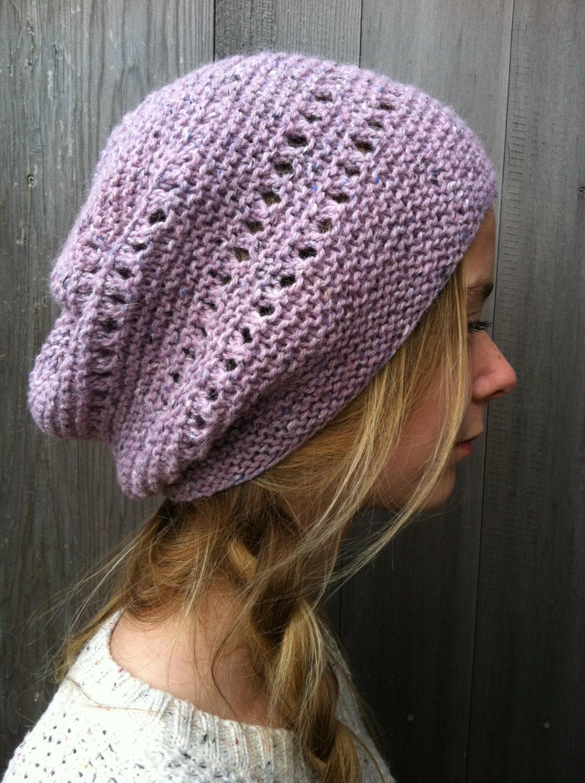 Knitting pattern Slouchy Hat