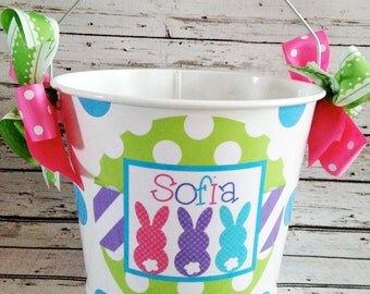 Sweet Bunny Trio Easter Pail