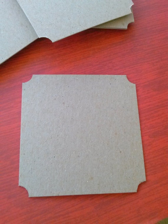 Chipboard Coasters - Set of 20 - Party Supply - Coaster Blanks - Stub Corners