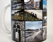 IRISH COFFEE MUG, Ireland Photography, Kerry, Cork, Galway, Antrim, Waterford, Red Phone Booth, Nice gift for Tea Drinker, Photo Collage Cup