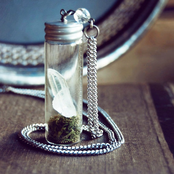 Energy Quartz Apothecary Terrarium Necklace