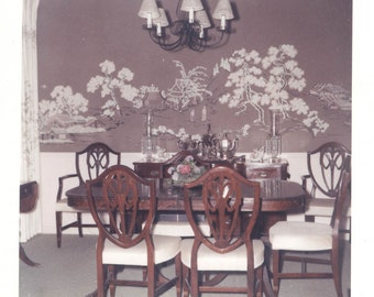 vintage photo Color Photo Table and Chairs Dining Room 1960s