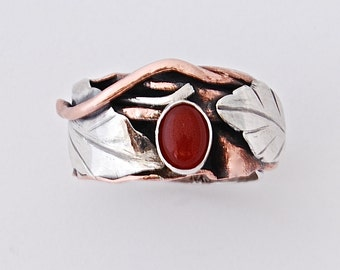 Amber Leaf Ring - Shades of Autumn