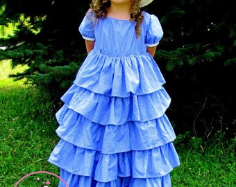 """Rose Dress and Top PDF Sewing Pattern.  Sizes 0-3 Months - 12, 18"""" doll"""