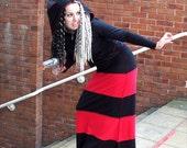 Gothic Long Stripe Skirt ~ Goth ~ Hippie ~ Boho ~ Sizes 6 to 30 ~ Last Chance to Buy