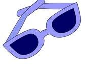 Sunglasses Applique PDF Pattern - Quilt Block  - Sewing - Crafts - Summer Fun Beach Ocean Sea - Instant Download