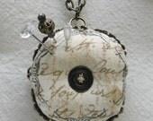 Biscornu Pincushion Necklace 4cm