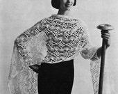 Hairpin Lace Stole - Vintage Crochet Pattern - Wrap / Shawl - Digital PDF eBook