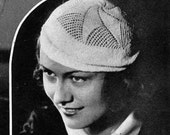 Knitted Star Beret Hat - 1930's Vintage Knitting Pattern - PDF E-book