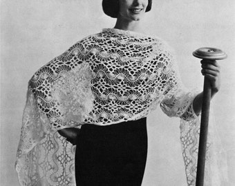 Hairpin Lace Stole - Vintage Crochet Pattern - Wrap / Shawl - Digital PDF eBook