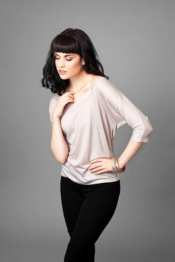 Kali Super Soft Batwing Top // Nude