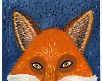 Midnight Fox Print