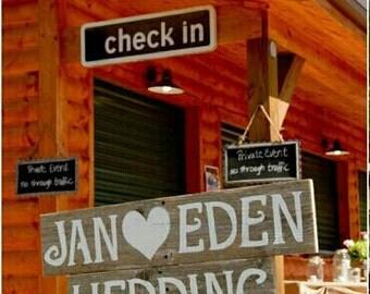 Wood Wedding Signs Romantic Outdoor Weddings Trueconnection Hand Painted Reclaimed Wood. Rustic Weddings. Vintage Weddings Road Signs Barn