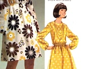 60s mod dress how to sew dress vintage sewing pattern Simplicity 8611 Bust 36 or Bust 38