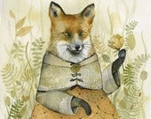 Fox Art - Lady Fiona - watercolor print - Illustrious Forest Collection