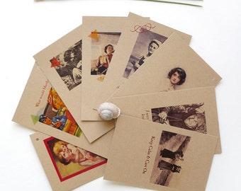 Gauge Swatch Cards Gift for Knitters Crocheters Retro Original Design Handmade