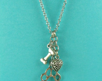 Dog Lover Charm Necklace