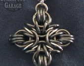 BLACK Greek / Iron / Catholic Cross - Pendant - Stainless Steel