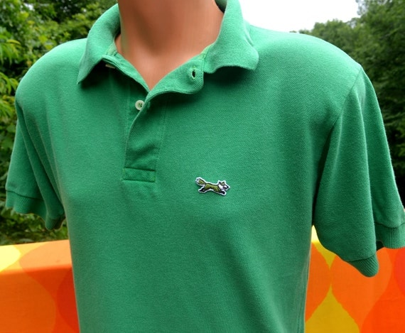 Vintage 70s golf shirt the fox polo tennis jc penney large for Jcpenney ladies polo shirts