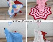 CROCHET PATTERN For 4 Baby Pram Cot Crib Blanket, Afghan PDF 1  Digital Download