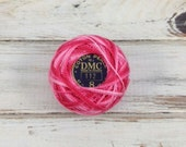 DMC 112 Variegated Pink Perle Cotton Balls Size 8