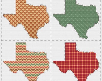 Texas cross stitch sampler - PDF pattern INSTANT DOWNLOAD