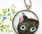 Peekaboo Cat Necklace