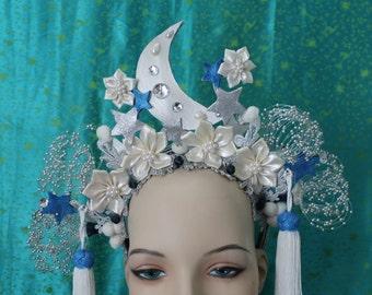 Lunar Headdress - Burlesque headdress - To order