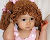Cabbage Patch Doll Hat - You Pick Hair Color