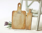 Dollhouse Supplies - Bread Cutting Board Kit - One Inch Scale Miniatures Kit