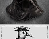 Plague Doctor hood in garment leather